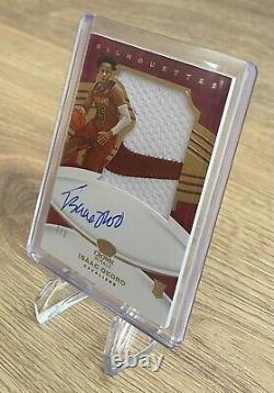 2020-21 Panini FOTL Crown Royale Silhouettes ISAAC OKORO Rookie Auto/Patch 2/3