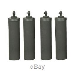 4 Black Berkey and 4 PF-2 Fluoride Filters Big Travel Royal Crown Imperial BB9