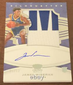 #9/12 James Wiseman 2020-21 Crown Royale RPA Silhouettes Jumbo Patch Auto Rookie