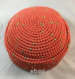 AFRICAN ROYAL Coral Color Beads Crown