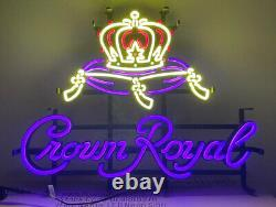 Authentic Crown Royal LED Sign MAN CAVE DECORATION NEON SIGN GARAGE HOME BAR