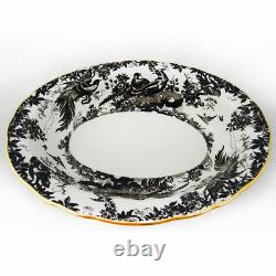 BLACK AVES by Royal Crown Derby Oval Open Vegetable NEW NEVER USED made England