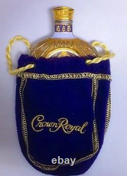 CROWN ROYAL LIQUOR BOTTLE SHAPED COLLECTOR MILITARY SPECIAL EDITION COIN With BAG