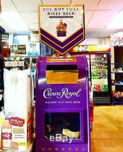 Crown Royal Display Mailbox Mail Box Man Cave Decor Garage Storage Whisky