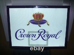 Crown Royal Nba Basketball Hoop Led Bar Sign Man Cave Garage Whiskey Awesome