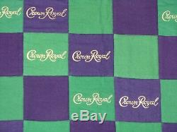Crown Royal Purple And Green Bag Quilt Made From More Than 160 Bags