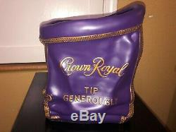Crown Royal Purple Bag Tip Jar Man Cave Display New Decor Sign