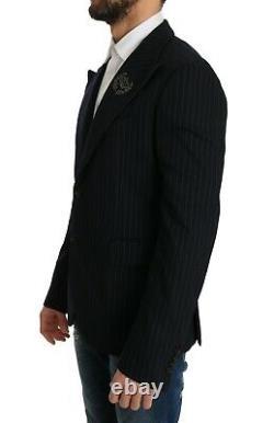 DOLCE & GABBANA Blazer Jacket Blue Striped Royal Crown s. IT50/US40 /L RRP $2000