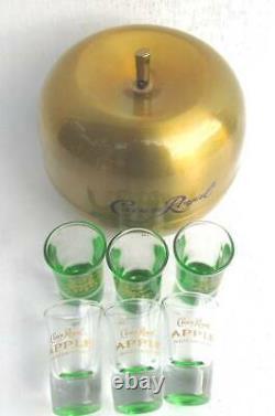 Fantastic Crown Royal 6 Apple Shot Glass Bar Set