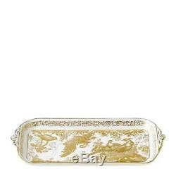 Gold Aves by Royal Crown Derby Rectangular Sandwich Tray, NEW