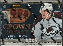 IN STOCK 2013-14 Panini Crown Royale Hockey Factory Sealed Hobby Box