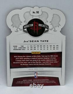 Jae'sean Tate 2020-21 Panini Crown Royale Red Crystal Rookie Rc Sp Rare #10/49