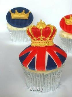 Katy Sue Royal CROWNS Silicone Sugarcraft Cake Mould Art Wedding Street Party