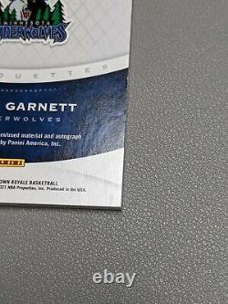 Kevin Garnett 2020-21 Panini Crown Royale Silhouettes #1/12 FOTL Large Patch