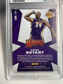 Kobe Bryant 2019 Panini Crown Royale Kaboom # 16 Psa 9 Pop 7, Only 2 Higher