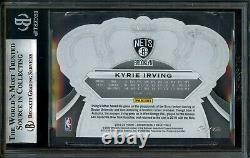 Kyrie Irving 1/1 Platinum Crystal BGS 9 Panini Crown Royale 2019-20 Nets #93