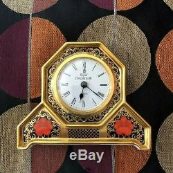 Lovely Royal Crown Derby Old Imari 1128 Mantel Clock