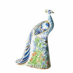 Manor Peacock Paperweight by Royal Crown Derby NEW in Box PAPBOX62728