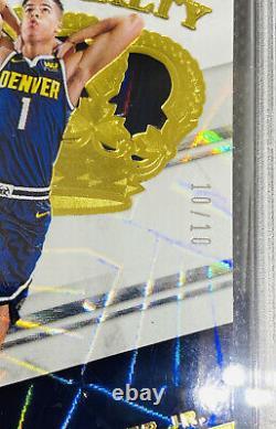 Michael Porter Jr RC 2018-19 Crown Royale Rookie Royalty GOLD 10/10 SSP PSA 9