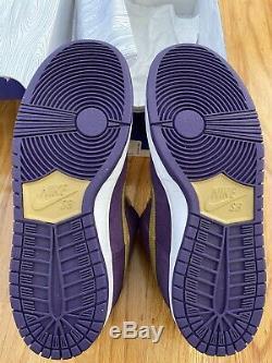 NEW DS Nike Dunk SB Low QUASAR PURPLE/METALLIC Crown Royale Mens 10.5