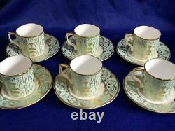 NEW Royal Crown Derby'Darley Abbey' 6 x Coffee Cups & Saucers