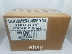 NFL 2013 Panini Crown Royale Football Factory Sealed Case of 12 Hobby Box Boxes