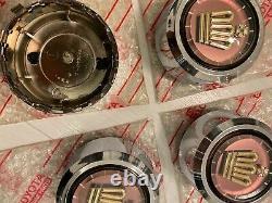 NOS Genuine TOYOTA CROWN Super Royal Saloon wheel center caps Ornament 4 PCS