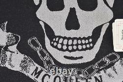 New Alexander McQueen 590927 ROYAL BANNER Skulls with Crowns Wool Scarf