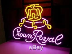 New CROWN ROYAL Whiskey Neon Light Sign 20x16