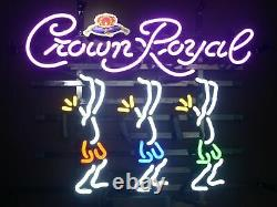 New Crown Royal Dancers Neon Light Sign 20x16 Beer Gift Lamp Bar Artwork
