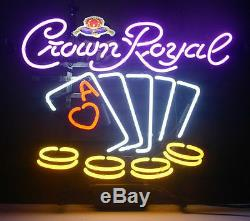 New Crown Royal Poker Whiskey Neon Sign 20x16