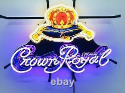 New Crown Royal Whiskey Neon Sign 20x16 With HD Vivid Printing Technology