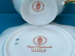 New Royal Crown Derby 1st Quality Antoinette Tea Cup & Saucer