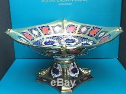 New Royal Crown Derby 1st Quality Old Imari Solid Gold Band Dolphin Bowl