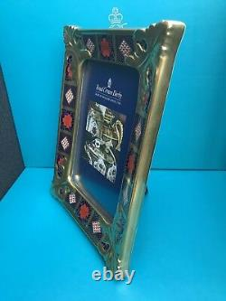 New Royal Crown Derby 1st Quality Old Imari Solid Gold Band Medium Picture Frame