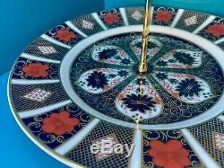 New Royal Crown Derby 2nd Quality Old Imari 1128 3 Tier Cake Stand
