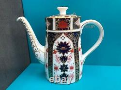 New Royal Crown Derby 2nd Quality Old Imari 1128 Coffee Pot