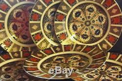 New Royal Crown Derby 2nd Quality Old Imari 1128 Set of 6 x 10 Dinner Plates