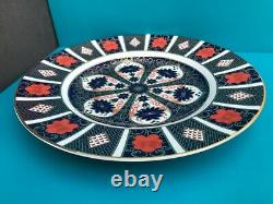 New Royal Crown Derby 2nd Quality Old Imari 1128 Set of 6 x 27cm Dinner Plates