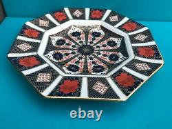 New Royal Crown Derby 2nd Quality Old Imari 1128 Set of 6 x 9 Octagonal Plates