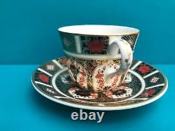 New Royal Crown Derby 2nd Quality Old Imari 1128 Set of 6 x Tea Cups & Saucers