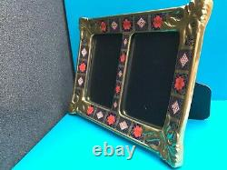 New Royal Crown Derby 2nd Quality Old Imari Solid Gold Band Double Picture Frame