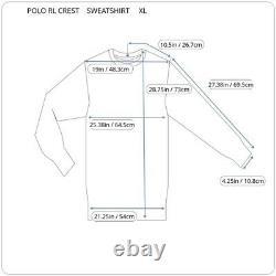 Nwt Polo Ralph Lauren Big Pony Royal Crest Crown Navy Gold Sweatshirt XL Crizzy