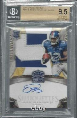 Odell Beckham Jr 2014 Crown Royale Silhouette Rpa Patch Auto Rc /299 Bgs 9.5 10