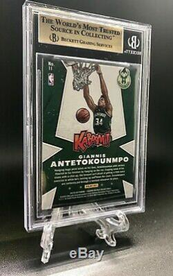 POP 2 2019 Crown Royale Giannis Antetokounmpo Kaboom Case Hit Insert BGS 9.5 MVP