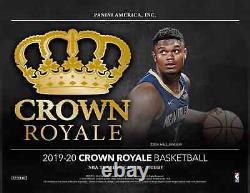 Panini Crown Royale Basketball Hobby Box NBA 2019-20