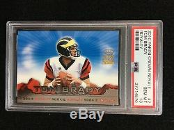 Psa 10 Tom Brady 2000 Pacific Crown Royale # 2 Rookie Royalty Rc Patriots