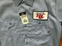 RC COLA Royal Crown Men Employee S/S Vintage Button Up Shirt L Dickies NEW TAG