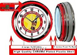 RC Royal Crown Cola Best by Taste 19 Double Neon Red Neon Clock Man Cave Bar