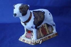 ROYAL CROWN DERBY IMARI STAFFORDSHIRE BULL TERRIER L/E 500 PAPERWEIGHT NEWithBOXED